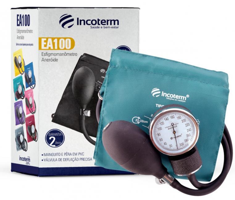 Esfigmomanômetro Aneróide Verde EA100 Incoterm + Incoterm