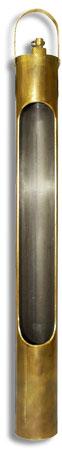 Proteção com saca amostra para termômetros - 448x45mm diâmetro - metal Incoterm