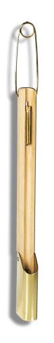 Proteção com saca amostra para termômetros - 410x60mm diâmetro - madeira e latão