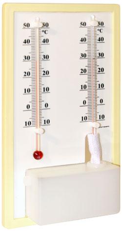 Termo-Higrômetro Analógico Bulbo Seco e Úmido