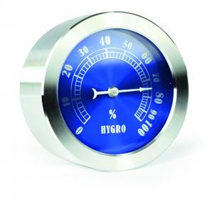 Higrômetro Bimetálico Inox Fundo Azul Incoterm
