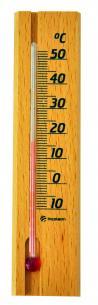 Termômetro Ambiente Com Base Em Madeira Incoterm