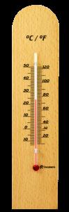Termômetro Ambiente com Base em Madeira CLÁSSICO Incoterm
