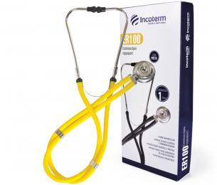 Estetoscópio Rappaport Amarelo ER100 Incoterm