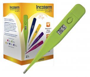 Caixa com 20 Und. de Termômetro Clinico Digital Verde Termomed Incoterm