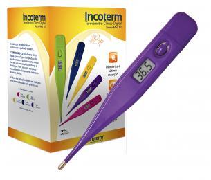 Caixa com 20 Und. de Termômetro Clinico Digital LilásTermomed Incoterm