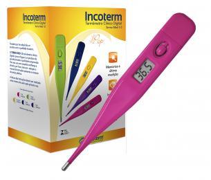 Caixa com 20 Und. de Termômetro Clinico Digital Pink Termomed Incoterm