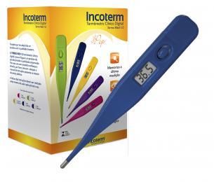 Caixa com 20 Und. de Termômetro Clinico Digital Azul Termomed Incoterm