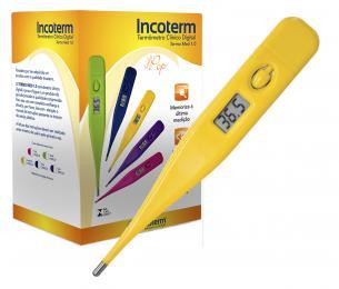 Caixa com 20 Und. de Termômetro Clinico Digital Amarelo Termomed Incoterm