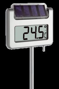 Termômetro Digital para Jardim Iluminação à Energia Solar AVENUE Incoterm