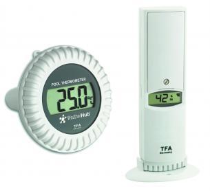 Termo-Higrômetro com Sensor para Piscina Weather Hub Incoterm