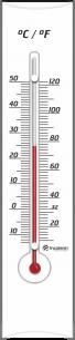 Termômetro Ambiente com Base em Madeira BRANCO Incoterm
