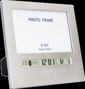 Relógio Digital com Alarme e Porta-Retrato Pequeno com Função Soneca e Alarme Incoterm