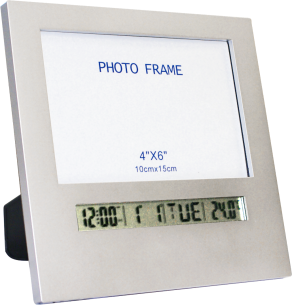 Relógio Digital com Alarme e Porta-Retrato com Função Soneca e Alarme Incoterm