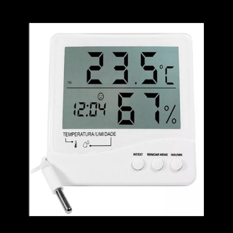 Termo-Higrômetro Digital Temperatura Interna e Externa e Umidade Interna Incoterm