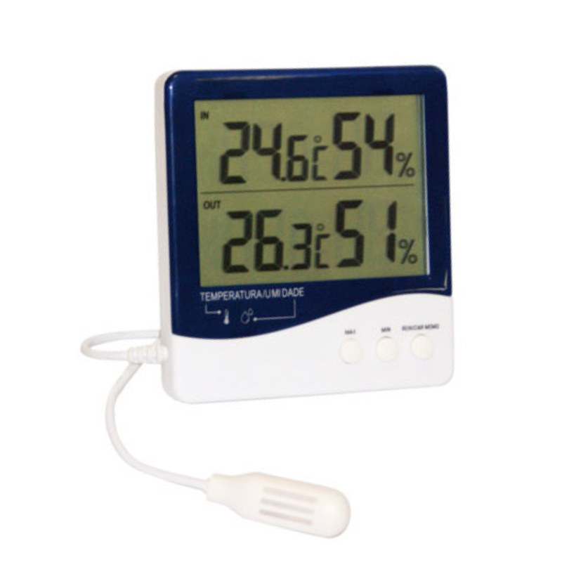 Termo-Higrômetro Digital Temperatura e Umidade Interna/Externa Incoterm