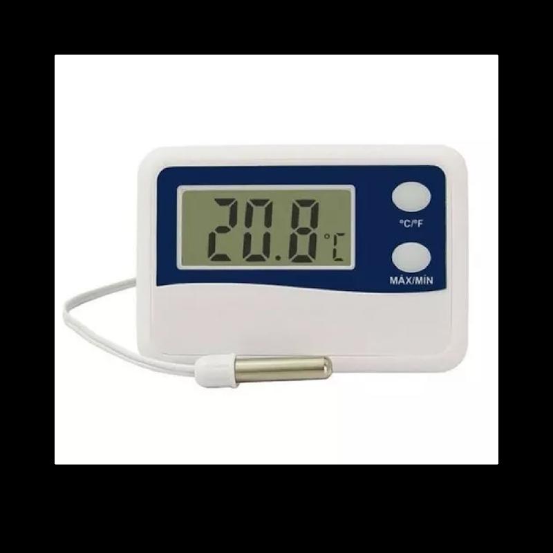 Termômetro Digital com Máxima e Mínima com Cabo de 50 cm Incoterm