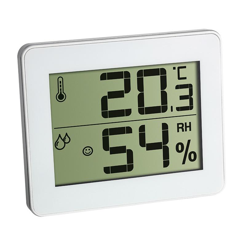 Termo-higrômetro com Relógio Branco Incoterm