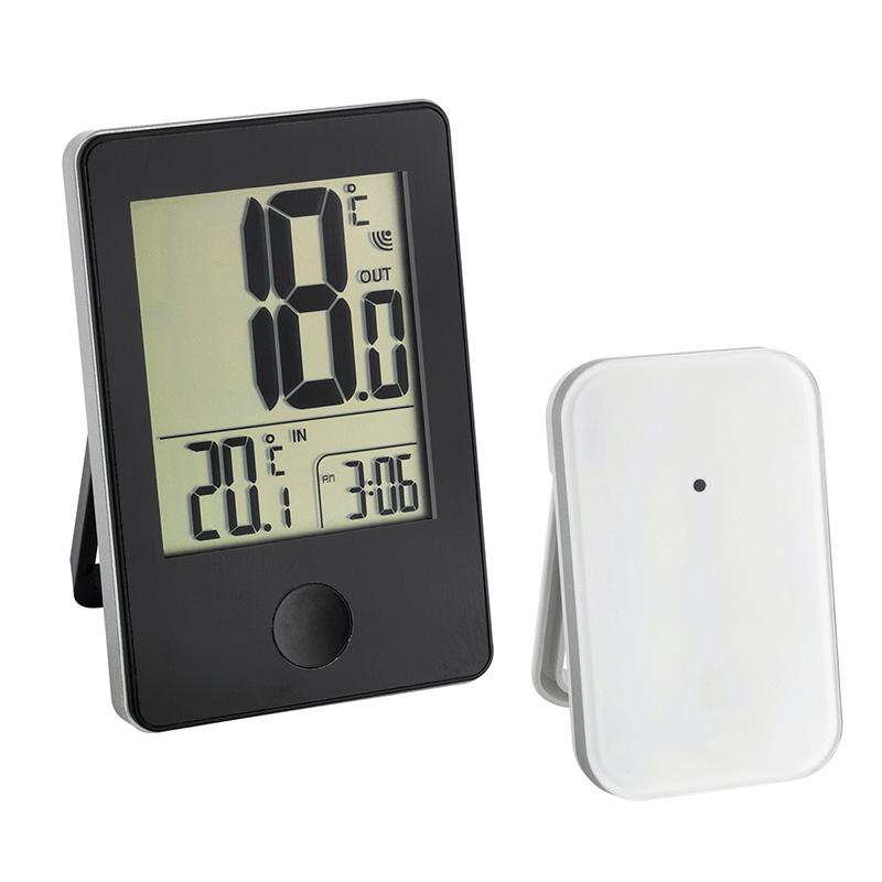 Termômetro Pop Preto Incoterm