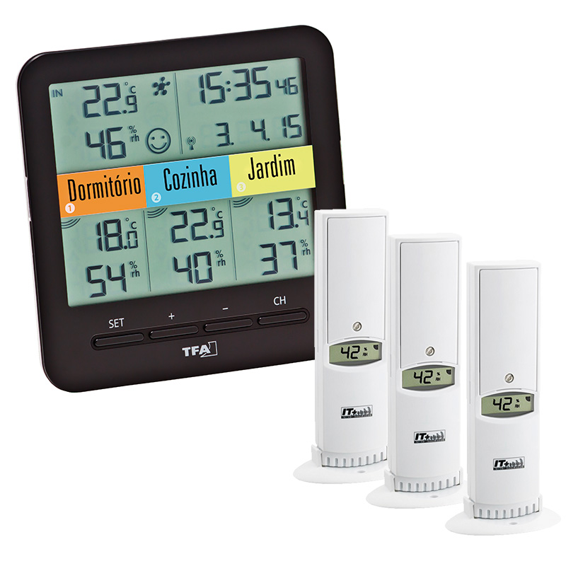 Estação com Termo-Higrômetro para 4 Ambientes Incoterm